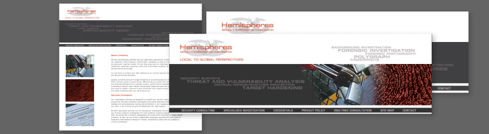 Web Design Hemispheres Security